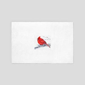 Cardinal Painting 4' x 6' Rug