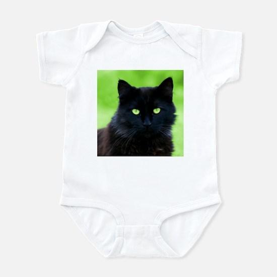 Beautiful Black Cat Infant Creeper