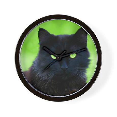 Beautiful Black Cat Wall Clock