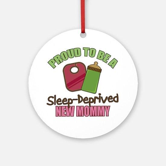 Sleep-Deprived Mom Ornament (Round)