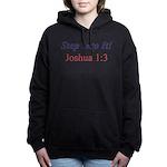 Joshua 1:3 Women's Hooded Dark Sweatshirt