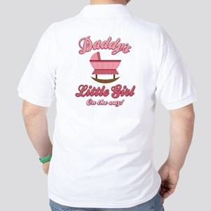 Daddy's Girl On Way Golf Shirt
