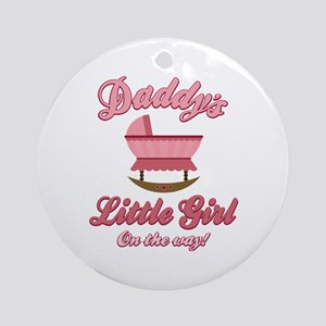 Daddy's Girl On Way Ornament (Round)