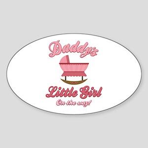 Daddy's Girl On Way Oval Sticker