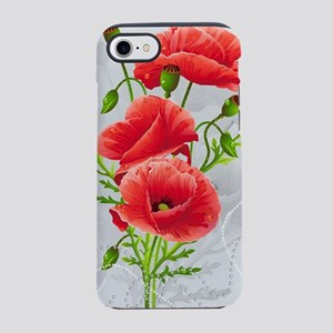Artistic Red Poppies iPhone 7 Tough Case