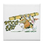 Wood Rat Tile Coaster