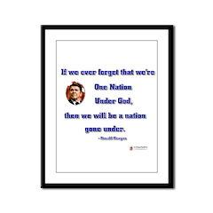 Reagan Nation Under God Framed Panel Print