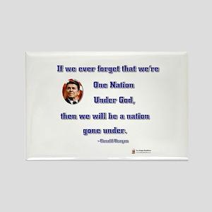 Reagan Nation Under God Rectangle Magnet