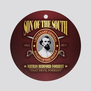 Nathan Bedford Forrest Round Ornament