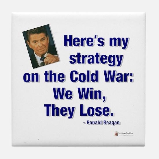 Reagan Cold War Tile Coaster