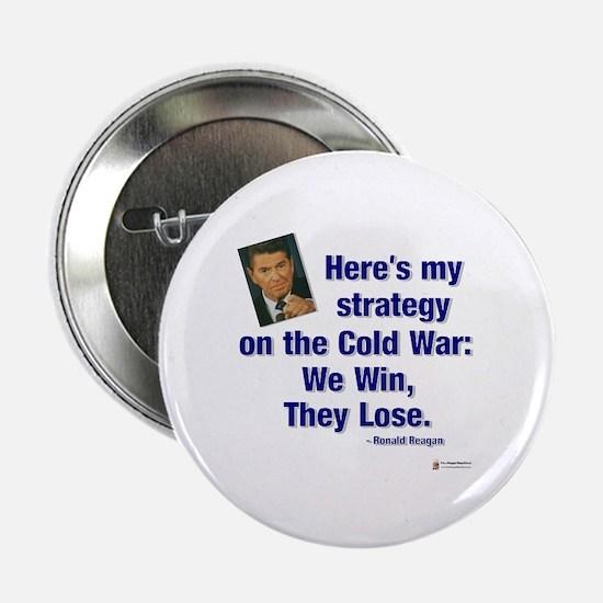 """Reagan Cold War 2.25"""" Button"""