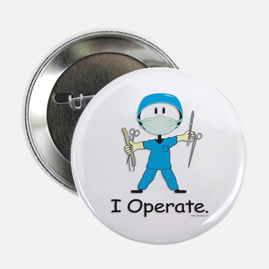 """BusyBodies Surgeon 2.25"""" Button"""