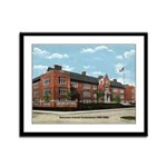 Emerson School Framed Panel Print