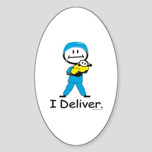 OB Doctor / Nurse Oval Sticker