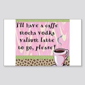 Cafe Vodka Latte Rectangle Sticker