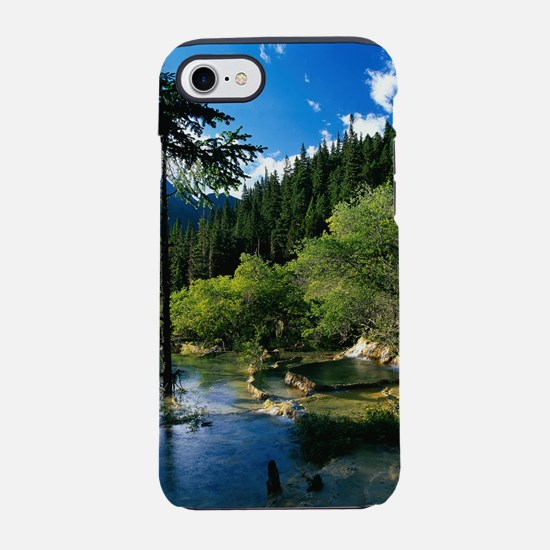 Mountain Forest Lake iPhone 7 Tough Case