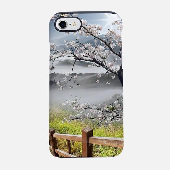 Japanese Cherry Landscape iPhone 7 Tough Case