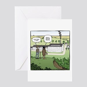 Profit Before People Greeting Card