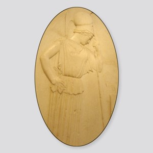 Mourning Athena Oval Sticker
