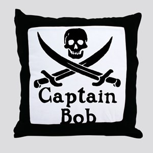 Captain Bob Throw Pillow
