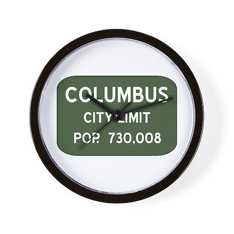 """Columbus City Limits"" Wall Clock"