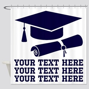 Graduation Message Shower Curtain