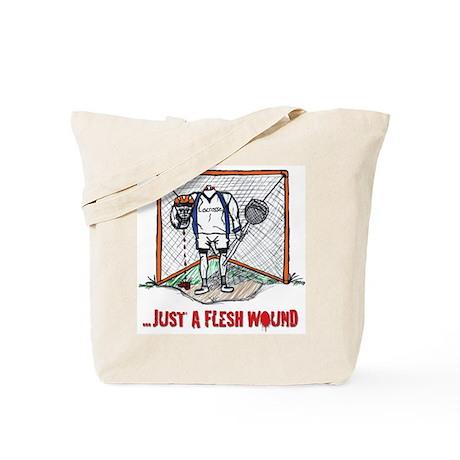 Lacrosse Goalie Fleshwound Tote Bag