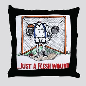Lacrosse Goalie Fleshwound Throw Pillow