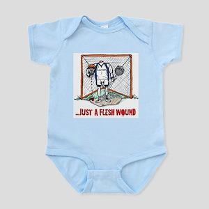 Lacrosse Goalie Fleshwound Infant Bodysuit