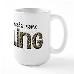 scrapbook bling 2 Large Mug