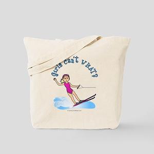 Blonde Water Skier Tote Bag