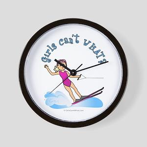 Blonde Water Skier Wall Clock