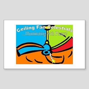 Ceiling Fan Celestials Rectangle Sticker