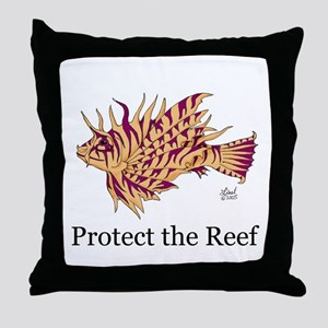 Protect the Reef Throw Pillow