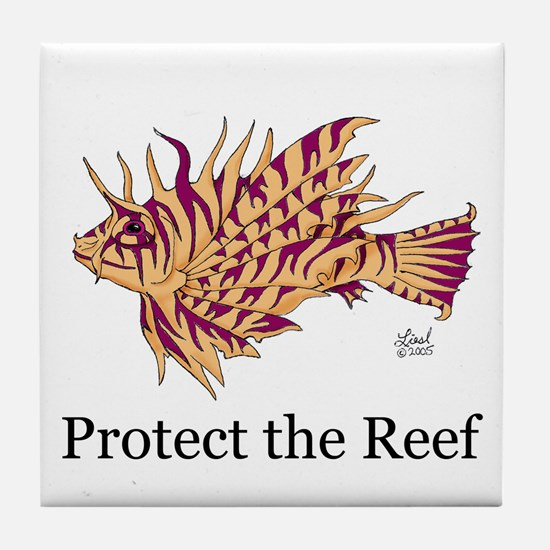Protect the Reef Tile Coaster