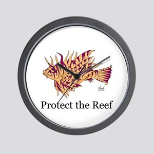Protect the Reef Wall Clock