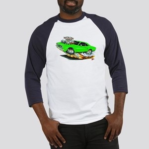 1970 Roadrunner Green Car Baseball Jersey