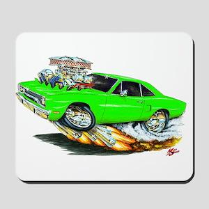 1970 Roadrunner Green Car Mousepad