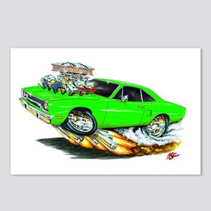 1970 Roadrunner Green Car Postcards (Package of 8)