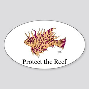 Protect the Reef Oval Sticker