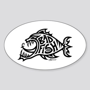 Bad Fish Oval Sticker