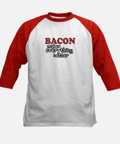 Bacon Makes Everything Better Kids Baseball Jersey