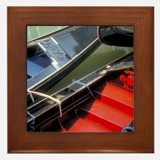 Italy Framed Tile: <br> Venetian gondolas