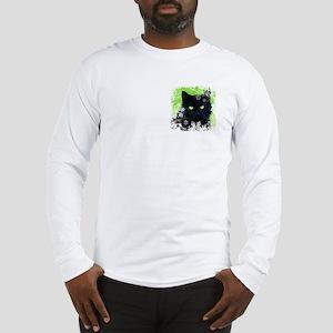 BLACK CAT & SNOWFLAKES Long Sleeve T-Shirt