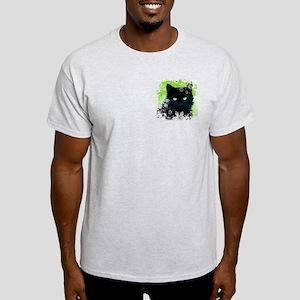 BLACK CAT & SNOWFLAKES Light T-Shirt