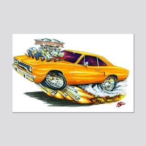 1970 Roadrunner Orange Car Mini Poster Print
