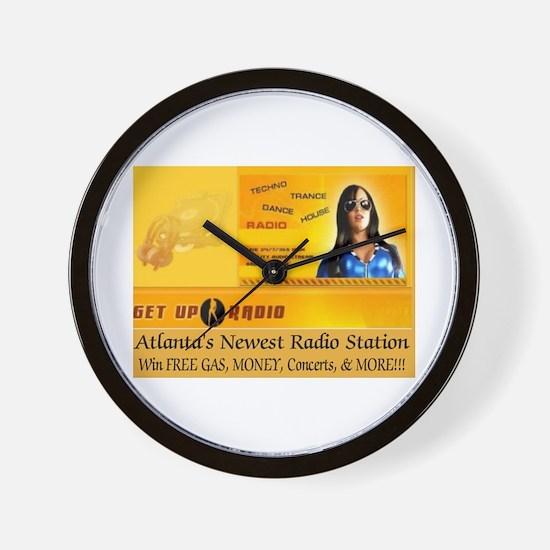 Get Up Radio Gear Wall Clock