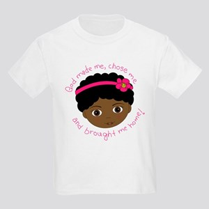 God Brought Me Home Kids Light T-Shirt