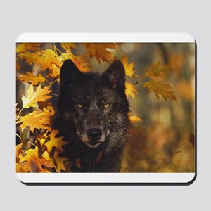 """Black Wolf"" Mousepad"