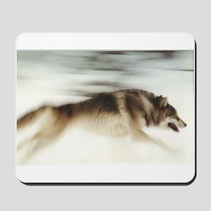 """Running Wolf"" Mousepad"